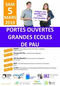 Affiche commune JPO grandes écoles de Pau 2016