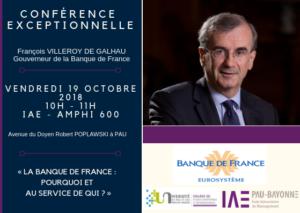 CONFÉRENCE EXCEPTIONNELLE avec François VILLEROY DE GALHAU, Gouverneur de la Banque de France @ IAE Campus de Pau, Amphi 600 | Pau | Nouvelle-Aquitaine | France