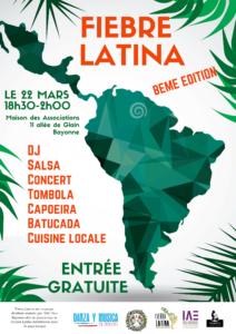 8ème édition du Festival Fiebre Latina @ Maison des associations